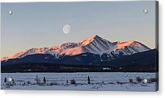 Mt. Elbert Sunrise Acrylic Print by Aaron Spong