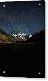 Mt Everest At Night Acrylic Print by Gaurav Agrawal