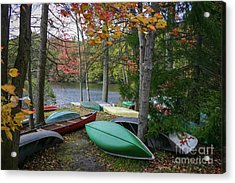 Mt. Gretna Canoes Acrylic Print