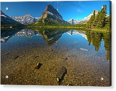 Acrylic Print featuring the photograph Mt. Grinnell by Gary Lengyel