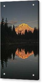 Mt Hood Alpenglow II Acrylic Print by Albert Seger