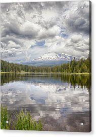 Mt Hood From Trilliam Lake Acrylic Print