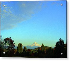 Mt Hood Just Before Sunset Acrylic Print