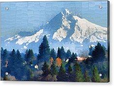 Mt. Hood  Acrylic Print by Margaret Hood