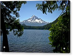Mt Hood Over Lost Lake Acrylic Print
