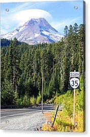 Mt. Hood With Lenticular Cloud Acrylic Print by Margaret Hood