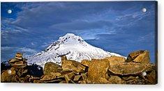 Mt Hood With Talus Acrylic Print