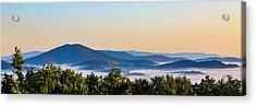 Mt. Jefferson Cloud Lake Acrylic Print