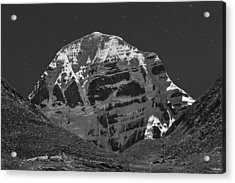 Mt. Kailash In Moonlight, Dirapuk, 2011 Acrylic Print