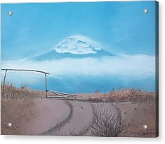 Acrylic Print featuring the painting Mt. Kilimanjaro by Susan Roberts