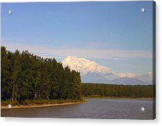 Acrylic Print featuring the photograph Mt. Mckinley Alasa 0755 by Jack G  Brauer