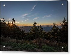 Mt Mitchell Sunset North Carolina 2016 Acrylic Print by Terry DeLuco