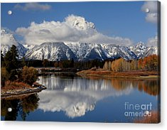 Acrylic Print featuring the photograph Mt Moran by Edward R Wisell