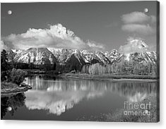 Mt. Moran  In Black And White Acrylic Print