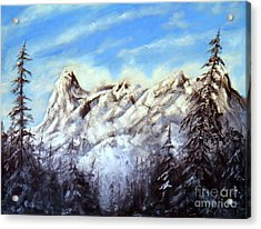 Mt Nusatsum Acrylic Print