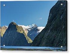 Acrylic Print featuring the photograph Mt Pembroke Glacier by Gary Eason