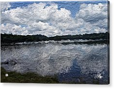 Acrylic Print featuring the painting Mt. Pocono Landscape by Joan Reese