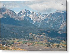 Mt. Powell - Gore Range Acrylic Print by Aaron Spong