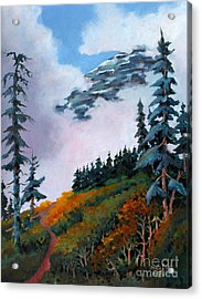 Acrylic Print featuring the painting Mt. Rainier 4 by Marta Styk