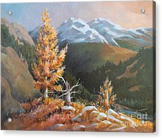 Acrylic Print featuring the painting Mt. Rainier 5 by Marta Styk