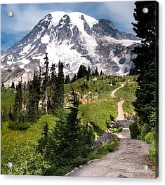 Acrylic Print featuring the photograph Mt. Rainier by Claudia Abbott