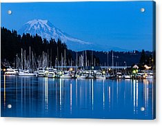 Mt. Rainier From Gig Harbor Acrylic Print