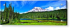 Mt. Rainier From Reflection Lakes Acrylic Print