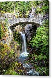 Mt Rainier National Park, Christine Falls Acrylic Print