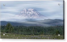 Acrylic Print featuring the photograph Mt. Rainier by Patti Deters