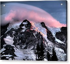 Mt Rainier Sunrise Fine Art Photograph Acrylic Print