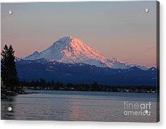 Mt Rainier Sunset Acrylic Print