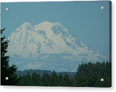 Mt Rainier Washington Acrylic Print by Laurie Kidd