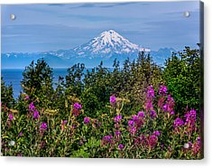 Acrylic Print featuring the photograph Mt. Redoubt by Claudia Abbott