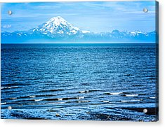 Acrylic Print featuring the photograph Mt. Redoubt Cooke Inlet by Claudia Abbott