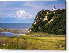 Mt. Redoubt From Ninilchik Beach Acrylic Print