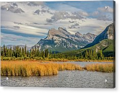 Acrylic Print featuring the photograph Mt. Rundle 2009 05 by Jim Dollar