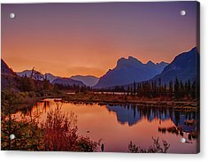 Acrylic Print featuring the photograph Mt. Rundle 2009 11 by Jim Dollar