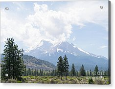 Acrylic Print featuring the photograph Mt Shasta California Dsc5035 by Wingsdomain Art and Photography