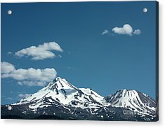 Mt Shasta With Heart-shaped Cloud Acrylic Print by Carol Groenen