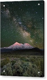 Mt Shasta With Milky Way#2 Acrylic Print by Keith Marsh
