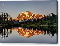 Acrylic Print featuring the photograph Mt Shuksan Reflection by Pierre Leclerc Photography