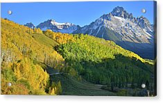 Acrylic Print featuring the photograph Mt. Sneffels From County Road 7 by Ray Mathis