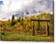 Mt Sopris Under The Clouds Acrylic Print by Ronda Kimbrow