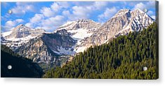 Mt. Timpanogos In The Wasatch Mountains Of Utah Acrylic Print