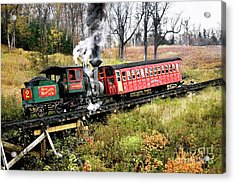 Mt Washington Cog Railway And Train Acrylic Print
