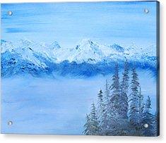Mt. Whistler Canada  Acrylic Print by Tina Haeger