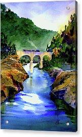 Mtn Quarries Rr Bridge Acrylic Print