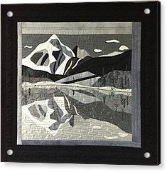 Mt.shuksan In Gray Acrylic Print