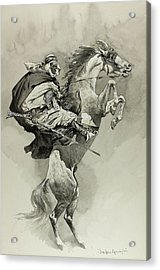 Mubarek The Arabian Chief Acrylic Print by Frederic Remington