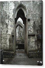 Muckross Abbey Acrylic Print by William Thomas